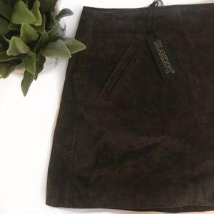 Blank NYC Suede A-Line Mini Skirt [NWT]
